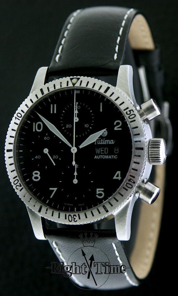 tutima fx 60min bezel chronograph 741 01 pre owned mens