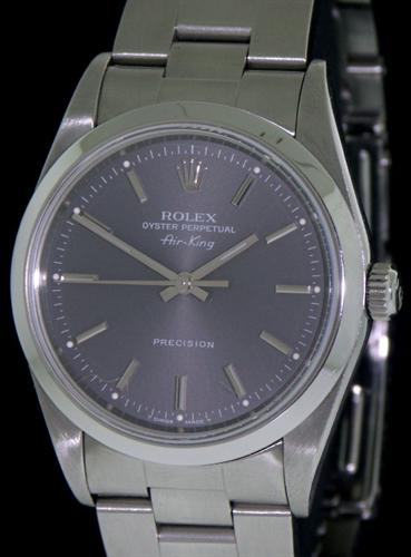 65b99debe34df Rolex Air-King Gray Dial 14000 - Pre-Owned Mens Watches