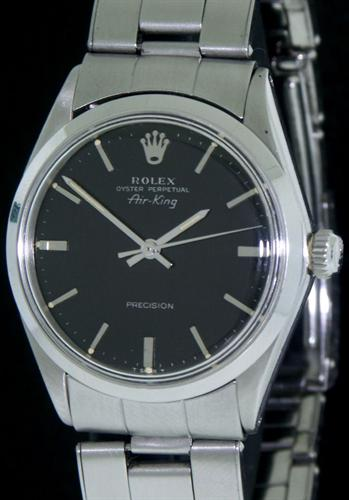 rolex oyster perpetual air king 5500 pre owned mens watches