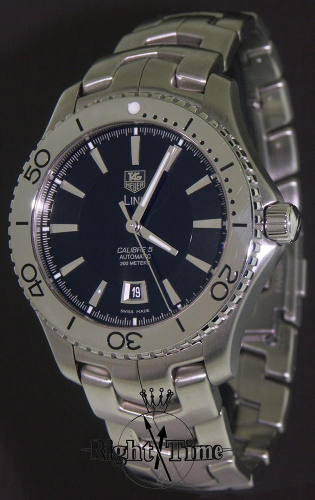 tag heuer link calibre 5 with date wj201a ba0591 pre