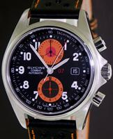 Pre-Owned GLYCINE COMBAT 07 CHRONO ORANGE SUB