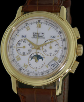 Pre-Owned ZENITH CHRONOMASTER 18KT GOLD MOON
