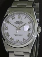 Pre-Owned ROLEX DATEJUST WHITE ROMAN DIAL