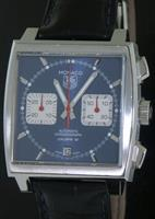 Pre-Owned TAG HEUER MONACO BLUE CHRONOGRAPH