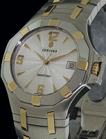 Pre-Owned CONCORD SARATOGA STEEL GOLD 18K