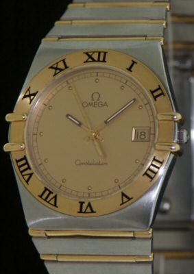 Pre-Owned OMEGA 18KT AND STEEL CONSTELLATION