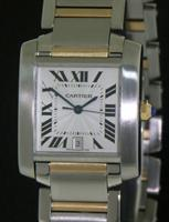 Pre-Owned CARTIER TANK FRANCAISE 18KT/SS AUTOMAT