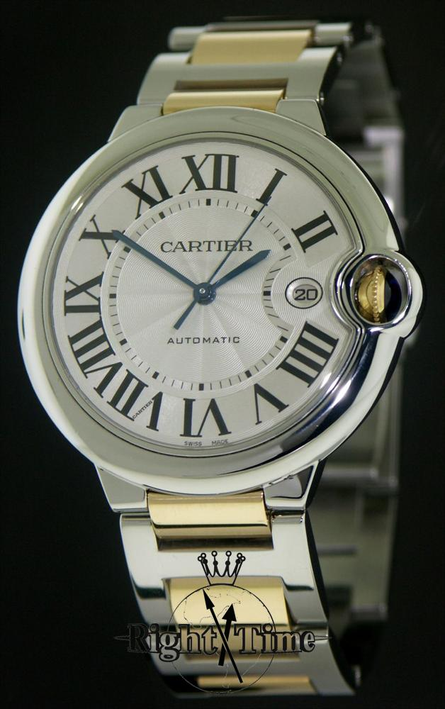 cartier ballon bleu gold and steel w69009z3 pre owned