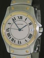 Pre-Owned CARTIER SANTOS 18KT/STEEL AUTOMATIC