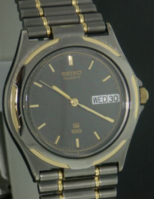 Pre-Owned SEIKO GUNMETAL WITH GOLD