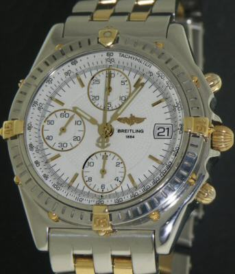 Pre-Owned BREITLING CHRONOMAT 18KT/STEEL