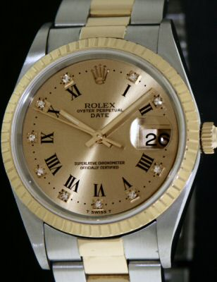 Pre-Owned ROLEX OYSTER DATE 18KT/STEEL
