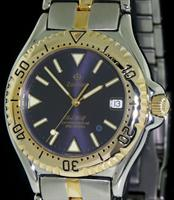 Pre-Owned ZODIAC SEA WOLF BLUE DOT QUARTZ DIVER