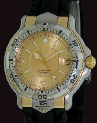 Pre-Owned TAG HEUER 18KT GOLD AND STEEL 6000