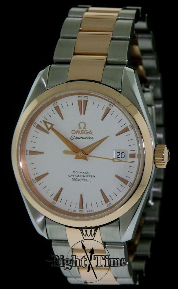 omega seamaster 18kt ss coaxial 2303 30 00 pre owned