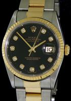 Pre-Owned ROLEX DATEJUST FACTORY DIAMOND DIAL