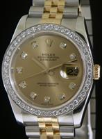 Pre-Owned ROLEX DATEJUST T/T DIAMOND DIAL/BZL