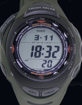 Pre-Owned CASIO PATHFINDER 3SENSOR SOLAR
