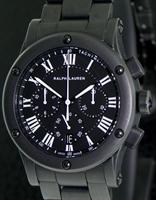 Pre-Owned RALPH LAUREN SPORTING CHRONOGRAPH BLK MATTE