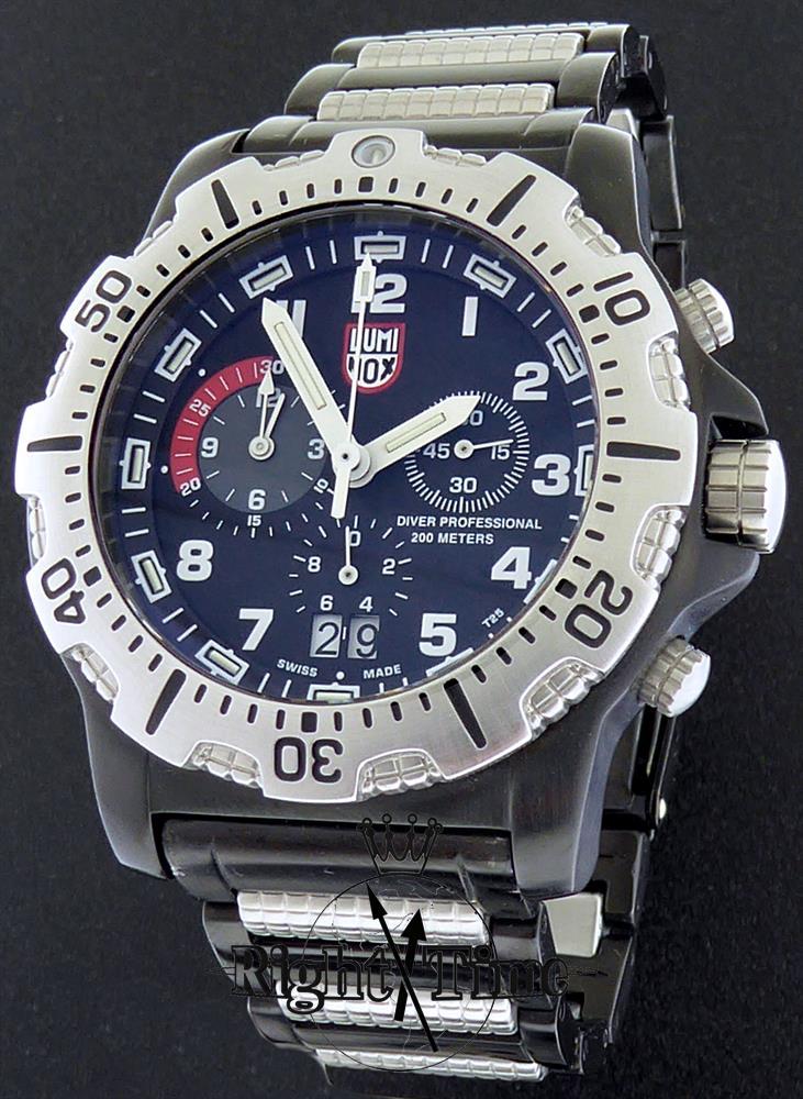 Luminox navy seal dive chronograph pre owned mens - Luminox dive watch ...