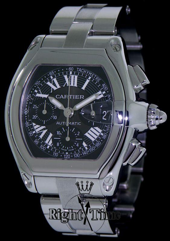 cartier roadster chronograph w62019x6 pre owned mens watches