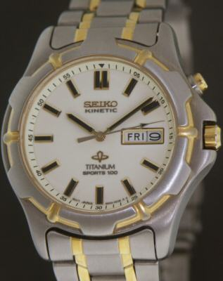 seiko kinetic titanium luminous dial 5m43 0b69 pre owned mens seiko kinetic titanium luminous dial 5m43 0b69 pre owned mens watches