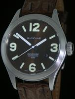 Pre-Owned GLYCINE INCURSORE AUTO ARCO BROWN SET