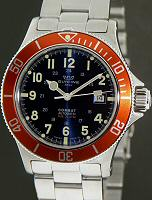 Pre-Owned GLYCINE COMBAT SUB 20ATM BLUE/ORANGE