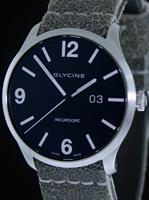 Pre-Owned GLYCINE INCURSORE STEEL BLACK DIAL
