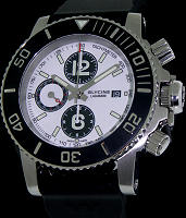 Pre-Owned GLYCINE LAGUNARE CHRONO WHITE