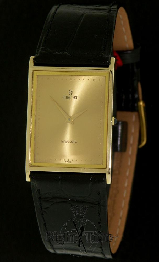 concord 14kt gold ultra thin quartz 20 81 612 pre owned mens watches