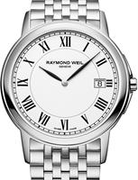 Pre-Owned RAYMOND WEIL TRADITION SLIM STEEL WHITE