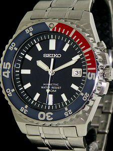 seiko kinetic diver pepsi bezel 5m62 oa19 pre owned mens watches Seiko Kinetic Titanium seiko kinetic 5m62 repair manual