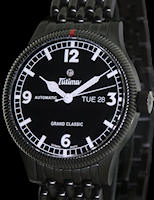 Pre-Owned TUTIMA ALL BLACK FLIEGER ON METAL