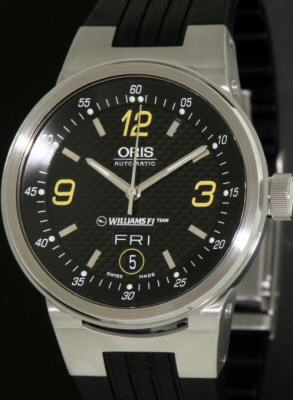 Pre-Owned ORIS WILLIAMS F1ON RUBBER BNAD