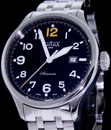 Pre-Owned DAVOSA PILOT BLACK DIAL 42MM