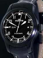 Pre-Owned FORTIS B-42 FLIEGER BLACK LIMITED