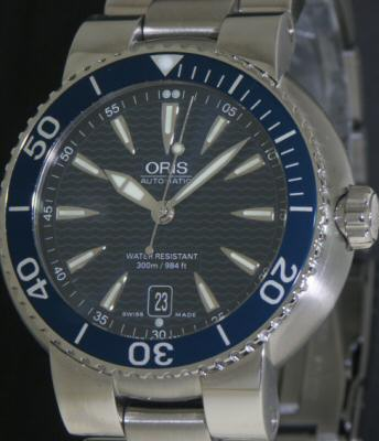 Pre-Owned ORIS TT1 DIVERS BLUE DIAL AUTOMATIC