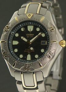 Citizen titanium divers 7875 h04945 ta pre owned mens watches - Citizen titanium dive watch ...