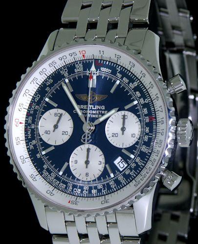 Breitling Navitimer Blue Silver Dial A2332212 C586 Pre Owned