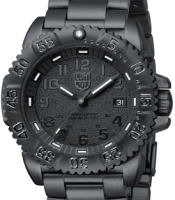 Pre-Owned LUMINOX ALL BLACK STEEL CASE AND BAND