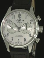 Pre-Owned ALPINA AUTOMATIC CHRONOGRAPH SILVER