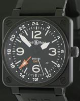 Pre-Owned BELL & ROSS AVIATION PVD CASE GMT