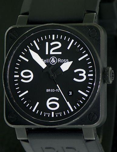 Pre-Owned BELL & ROSS AVIATION PVD CASE CALENDAR