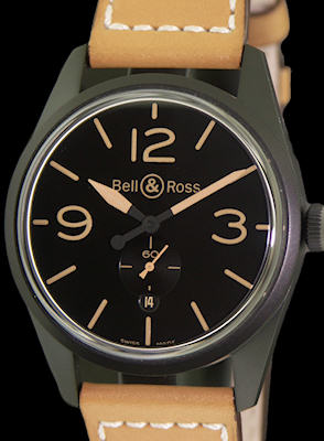 Pre-Owned BELL & ROSS VINTAGE BR123 CARBON AUTOMATIC