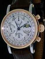Pre-Owned CHRONOSWISS 18KT AND STEEL LUNAR CHRONO