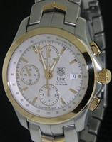 Pre-Owned TAG HEUER LINK 18KT GOLD & STEEL CHRONO