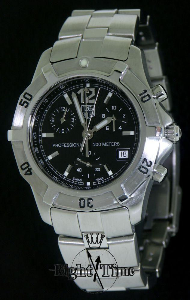 tag heuer 2000 chronograph cn1110 ba0337 pre owned mens
