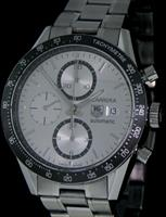 Pre-Owned TAG HEUER CARRERA CHRONO SILVER DIAL