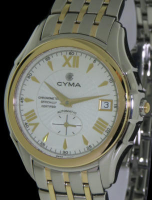 Pre-Owned CYMA CYMA 18KT GOLD AND STEEL COSC